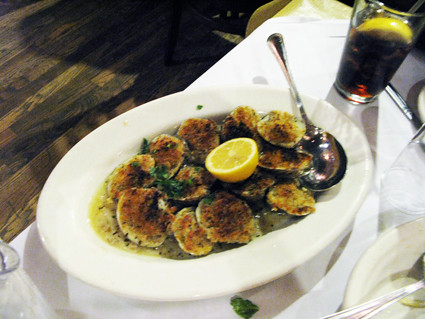 There's nothing gentle about the clams oreganato at Carmine's: IMG_30.JPG