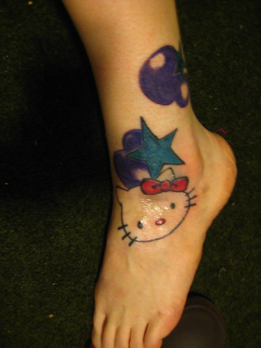 Pictures Of Hello Kitty Tattoos. Hello Kitty Tattoo