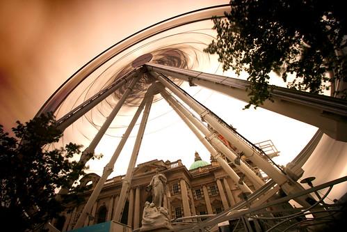 belfast wheel long exposure