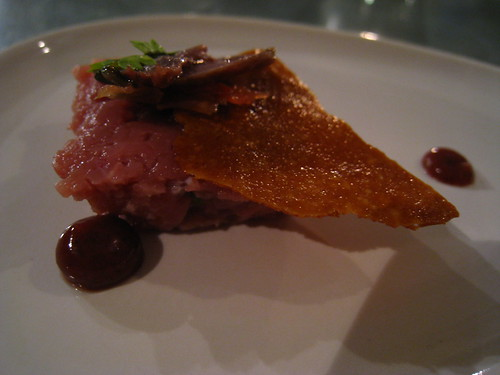 Amuse Bouche: Duck Tartare with sweetmeats
