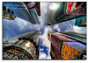 Times Square, NYC (kw~ny) Tags: new york nyc newyorkcity nikon timessquare times crossroadsofamerica d700 toomanytaxicabs