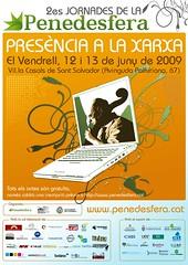"""Cartell de les 2es Jornades de la Penedesfera: """"Presència a la xarxa"""""""
