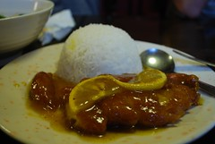 Lemon Chicken on Rice - Dumplings Plus AUD8.80