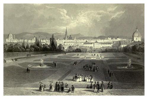 024- Viena vista de los jardines del Belvédere 1844