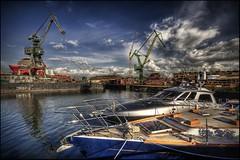 (5y12u3k) Tags: boats industrial poland vessel cranes shipyard gdansk tonemapped fhdr 5y12u3k sylwekeu