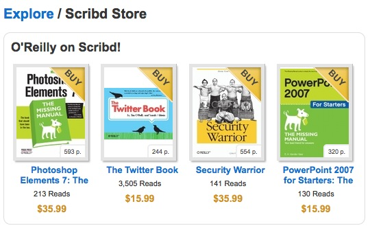 Scribd Store Launched