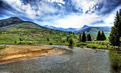 The River Behind the Ranch (Stuck in Customs) Tags: ranch park travel blue trees vacation sky usa fish mountains cold green love scale nature water beautiful clouds composition forest work wonderful river landscape fly amazing cool fantastic fishing cabin woods nikon scenery montana stream warm shoot colours photographer shot natural god gorgeous air awesome details d2x picture deep peaceful calm master edge processing stunning yellowstone serene brook meditation wyoming portfolio lovely peaks riverbank tubing trey combination riverbend treatment ratcliff stuckincustoms