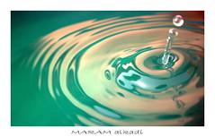 Drop of water (..MaRaM Al Kadi..مرام القاضي) Tags: في با تصوير اول لي تجربه العاديه العدسه القطرات