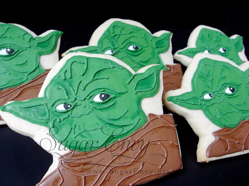 Yoda Star Wars Decorated Cookie Favor