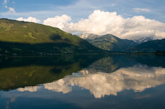 Zeller See (j.jussi) Tags: mountain reflection landscape austria evening zellamsee zellersee