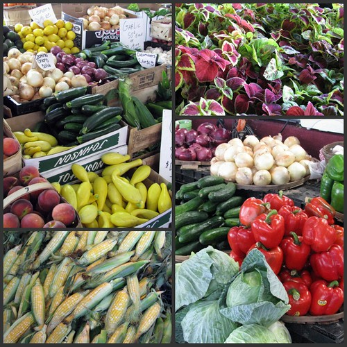 Nashville Farmers Market collage