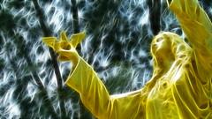 Kalayaan (Freedom) (Gilbert Rondilla) Tags: camera woman monument statue lady photomanipulation photoshop polaroid gold freedom photo shrine peace dove philippines gilbert filipino symbols independence subicbay subic notmycamera own pinoy borrowedcamera imago june12 kalayaan rondilla photoshopplugin i733 notmyowncamera polaroidi733 inanglaya imagoismthursday imagoism litratistakami fractaliusplugin gilbertrondilla gilbertrondillaphotography luisianian polaroid7mpdigitalcamera