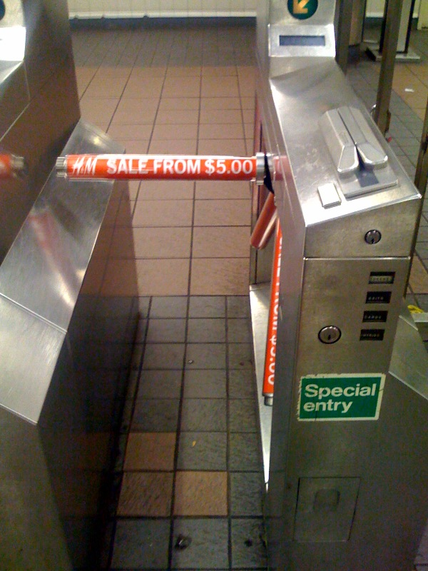 Confusing MTA Subway Turnstiles