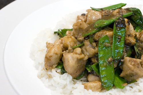 Basil Chicken over Rice