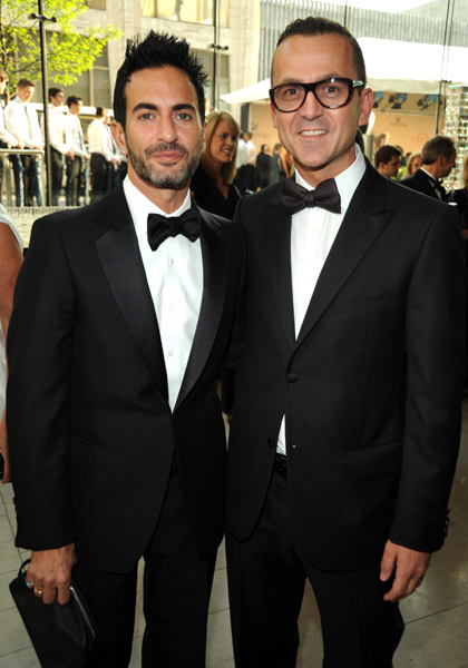 Marc Jacobs and CFDA Executive Director Steven Kolb  attend the 2009 CFDA Fashion Awards at Alice Tully Hall, Lincoln Center on June 15, 2009 in New York City.