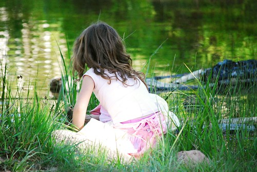 a quiet think by the pond