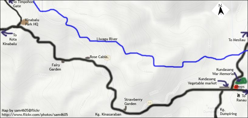 Kundasang Map - War Memorial - Kinabalu Park - Mesilau - kundasang location map - peta Kundasang