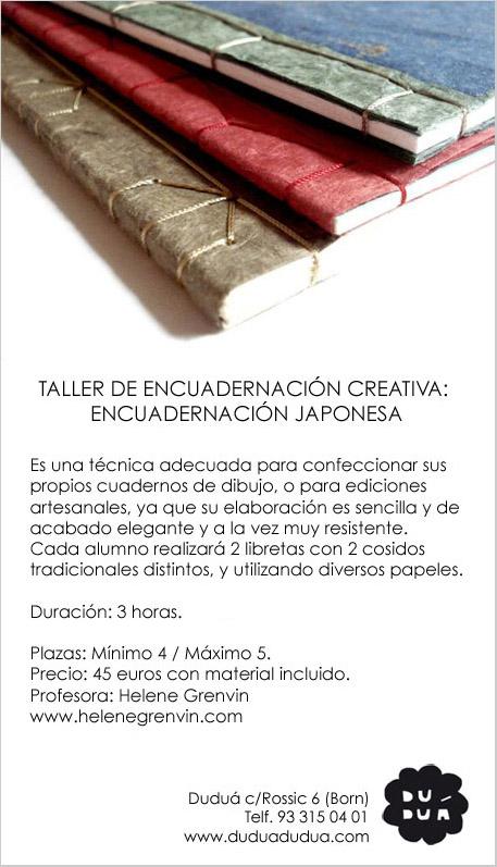 Curso encuadernación japonesa