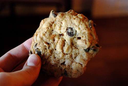Peanut Butter-Chocolate Chip Oatmeal Cookie