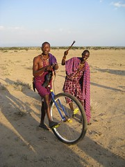 One-Wheeled Maasai Warriors
