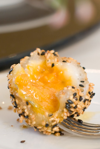 Deep Fried Golden Sesame Rice Balls