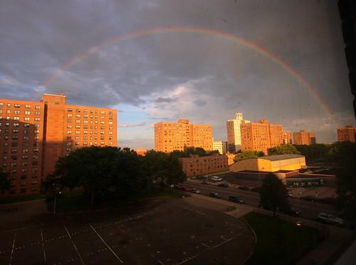 Rainbow over NY
