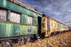 Downbound Train (Sky Noir) Tags: sky car train noir norfolk rusty rail western passenger crusty hdr atmospheric downbound skynoir