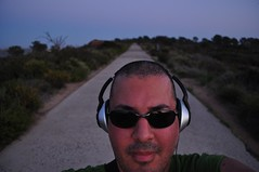 On a trail near the top of Torrey Pines in San Diego (Blue Rave) Tags: nature angles angle mountains twilight dude people bloke mate men guy male headphones line lines vanishingpoint park pathway trail sidewalk me path california beard stubble scruff self sunglasses headset ego myself selfie selfportrait boseheadphones face