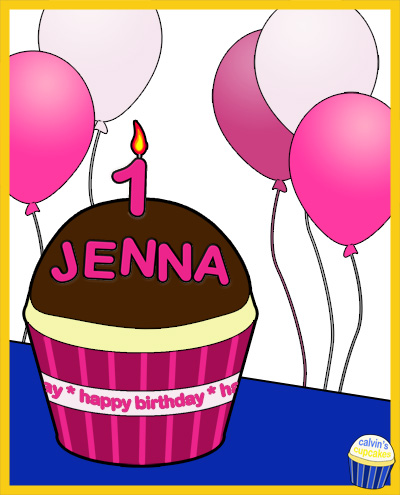 Jenna's 1st Birthday Cupcake
