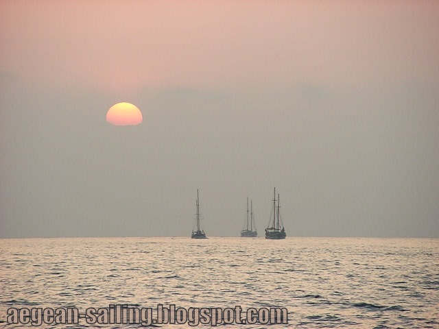 Sails at Aegean Sunrise