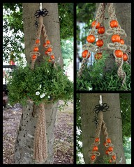 Macrame Plant Hanger- Orangeberry Petals (Macramaking- Natural Macrame Plant Hangers) Tags: wood orange plants black mountains green beauty metal hippies vintage garden happy idea beads spring pretty basket natural bright herbs handmade unique decorative character cottage creative fluffy curls northcarolina funky retro deck gift porch round shelby daisy 70s hanging flowing chic cheerful birthdaygift weavers groovy weddinggift knots sunroom beachhouse detailed christmasgift hangingbasket shabby twisting blackmetal artscrafts jute containergardening macram planthanger alternating orangeberries mothersdaygifts macramakin macramaking 5plyjute httpwwwetsycomshopmacramaking