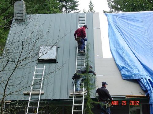 Metal Roofing Job Underway