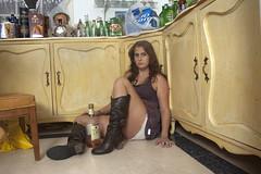 Sara (Lauren Laufer) Tags: lighting girls light tree kitchen beer girl forest truck israel pretty sad drinking dirt desolate liquior