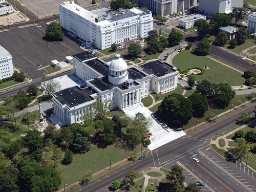 Montgomery: Alabama State Capitol Building Aerial View by Alabama Tourism Department.