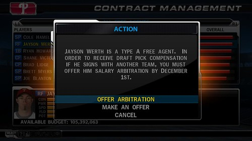 MLB 09 The Show screenshot - Contract Management
