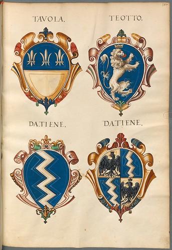 Familienwappen kleinerer Adelshäuser von Vicenza mit Buchstaben j