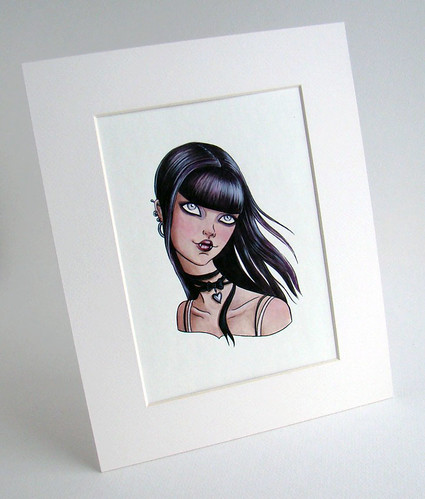 teen vamp original painting