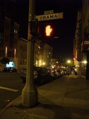 Obama Street Sign