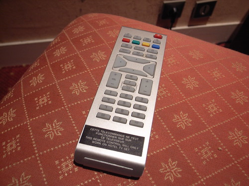 This remote control will only work on hotel TV set