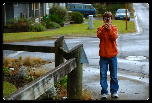 Jesse taking picture of Brenda