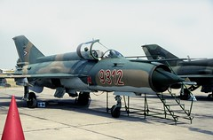 MiG-21MF  9312 Hungarian Air Force Kecskemet (emdjt42) Tags: 9312 mig21 kecskemet mig21mf hungarianairforce