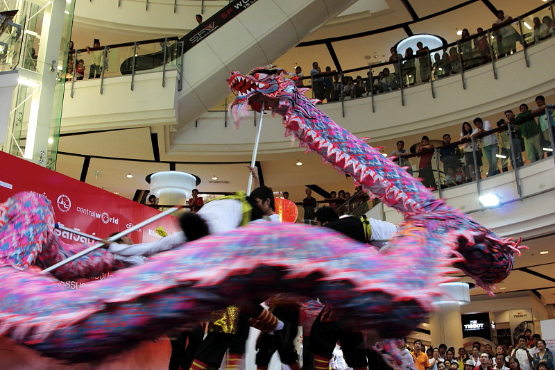 Dragon Dance @ Central World, Bangkok, Thailand