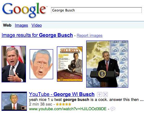 Googling George Busch