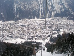 Chamonix from the Planpraz gondola