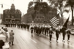 Military Parade down Main Street, circa early 1960's (Downtown Warren History) Tags: county street ohio military main parade oh warren 1960s ymca trumbull