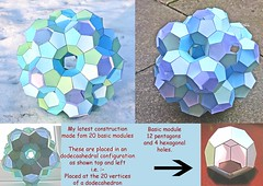 3D pentagon thingammy (3000+ views) (the yes man) Tags: 3d geometry hexagons modules pentagons flickrviews250