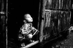 Looking to the light (damonlynch) Tags: boy people blackandwhite bw child philippines filipino ph negrosoccidental kabankalan barangayorong