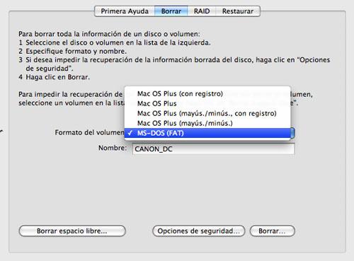 Captura de pantalla de la Utilidad de discos borrando el contenido de un pendrive que se ha quedado tonto