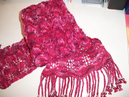 Crest of the Wave Scarf - Numma Numma sock yarn