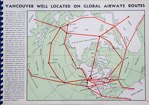 Vancouver Well Located on Global Airways Routes